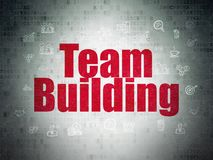 Finance concept: Team Building on Digital Data Paper background. Finance concept: Painted red text Team Building on Digital Data Paper background with  Hand Stock Photos