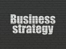 Finance concept: Business Strategy on wall background Royalty Free Stock Image