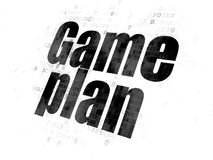 Finance concept: Game Plan on Digital background. Finance concept: Pixelated black text Game Plan on Digital background Royalty Free Stock Photo