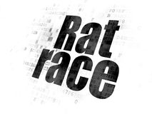 Finance concept: Rat Race on Digital background. Finance concept: Pixelated black text Rat Race on Digital background Royalty Free Stock Photos