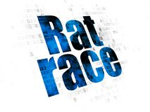 Finance concept: Rat Race on Digital background Stock Photos