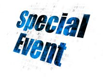 Finance concept: Special Event on Digital background. Finance concept: Pixelated blue text Special Event on Digital background Royalty Free Stock Photos