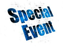Finance concept: Special Event on Digital background. Finance concept: Pixelated blue text Special Event on Digital background Stock Photos