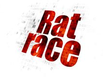 Finance concept: Rat Race on Digital background. Finance concept: Pixelated red text Rat Race on Digital background Royalty Free Stock Image