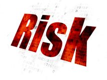 Finance concept: Risk on Digital background. Finance concept: Pixelated red text Risk on Digital background Royalty Free Stock Photos