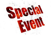 Finance concept: Special Event on Digital background. Finance concept: Pixelated red text Special Event on Digital background Royalty Free Stock Photos