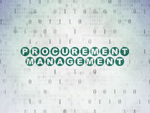 Finance concept: Procurement Management on Digital. Finance concept: Painted green text Procurement Management on Digital Paper background with Binary Code Royalty Free Stock Image
