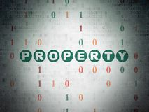 Finance concept: Property on Digital Data Paper background. Finance concept: Painted green text Property on Digital Data Paper background with Binary Code Royalty Free Stock Images