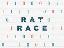 Finance concept: Rat Race on wall background Royalty Free Stock Photo