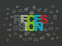 Finance concept: Recession on wall background Royalty Free Stock Photography