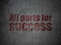 Finance concept: All parts for Success on grunge wall background. Finance concept: Red All parts for Success on grunge textured concrete wall background Royalty Free Stock Image