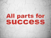 Finance concept: All parts for Success on wall background. Finance concept: Red All parts for Success on textured concrete wall background Royalty Free Stock Photo