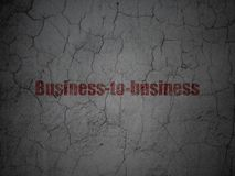 Finance concept: Business-to-business on grunge wall background Royalty Free Stock Images