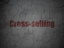 Finance concept: Cross-Selling on grunge wall background stock photo