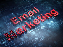Finance concept: Red Email Marketing on digital. Background, 3d render Royalty Free Stock Photo