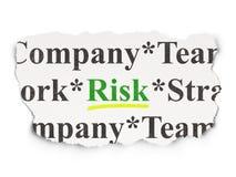 Finance concept: Risk on Paper background. Finance concept: torn newspaper with words Risk on Paper background, 3d render Royalty Free Stock Image
