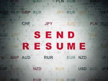 Finance concept: Send Resume on digital background Royalty Free Stock Photography