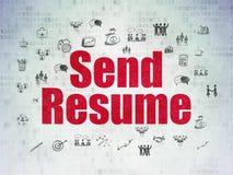 Finance concept: Send Resume on Digital Paper Stock Photos