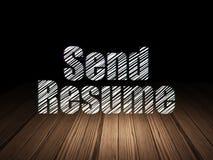 Finance concept: Send Resume in grunge dark room Stock Photos