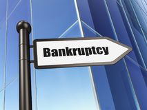 Finance concept: sign Bankruptcy on Building background. 3D rendering Royalty Free Stock Images