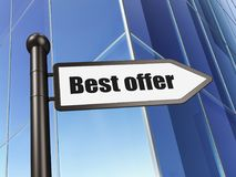 Finance concept: sign Best Offer on Building background. 3D rendering Royalty Free Stock Images
