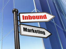 Finance concept: sign Inbound Marketing on Building background Stock Photo