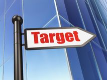 Finance concept: sign Target on Building background. 3D rendering Stock Images