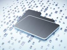 Finance concept: Silver Folder on digital. Background, 3d render Stock Images