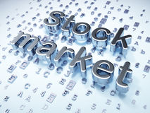 Finance concept: Silver Stock Market on digital. Background, 3d render Stock Photography