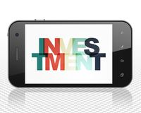 Finance concept: Smartphone with Investment on  display Royalty Free Stock Photo