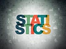 Finance concept: Statistics on Digital Data Paper background Stock Image