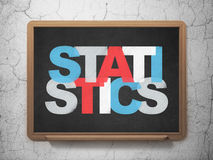 Finance concept: Statistics on School Board. Finance concept: Painted multicolor text Statistics on School Board background, 3d render Royalty Free Stock Images