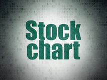 Finance concept: Stock Chart on Digital Data Paper background Stock Photography