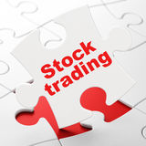Finance concept: Stock Trading on puzzle Stock Photography