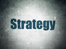 Finance concept: Strategy on Digital Paper Royalty Free Stock Photography
