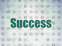 Finance concept: Success on Digital Data Paper background. Finance concept: Painted green text Success on Digital Data Paper background with  Scheme Of Binary Stock Image