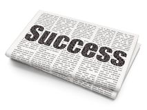 Finance concept: Success on Newspaper background Stock Photography