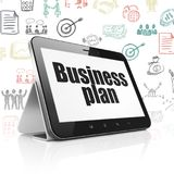 Finance concept: Tablet Computer with Business Plan on display. Finance concept: Tablet Computer with  black text Business Plan on display,  Hand Drawn Business Stock Photography