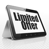Finance concept: Tablet Computer with Limited Offer on display Stock Image