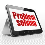 Finance concept: Tablet Computer with Problem Solving on display. Finance concept: Tablet Computer with red text Problem Solving on display, 3D rendering Stock Image