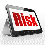Finance concept: Tablet Computer with Risk on display. Finance concept: Tablet Computer with red text Risk on display, 3D rendering Royalty Free Stock Images