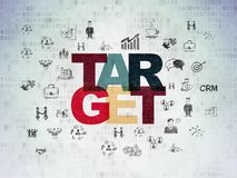 Finance concept: Target on Digital Data Paper background. Finance concept: Painted multicolor text Target on Digital Data Paper background with  Hand Drawn Stock Images