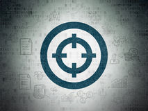 Finance concept: Target on Digital Paper background Royalty Free Stock Photo