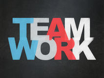 Finance concept: Teamwork on School board background. Finance concept: Painted multicolor text Teamwork on School board background, School Board Royalty Free Stock Photos