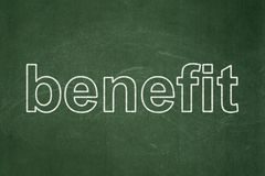 Finance concept: Benefit on chalkboard background Stock Photos