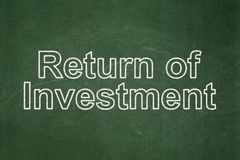 Finance concept: Return of Investment on chalkboard background Stock Images