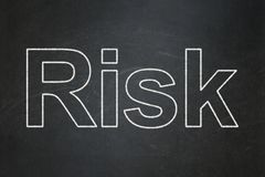 Finance concept: Risk on chalkboard background. Finance concept: text Risk on Black chalkboard background Royalty Free Stock Image