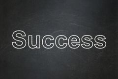 Finance concept: Success on chalkboard background. Finance concept: text Success on Black chalkboard background Stock Image