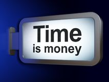 Finance concept: Time Is money on billboard background. Finance concept: Time Is money on advertising billboard background, 3D rendering Stock Photo