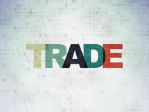 Finance concept: Trade on Digital Data Paper background. Finance concept: Painted multicolor text Trade on Digital Data Paper background Stock Photos